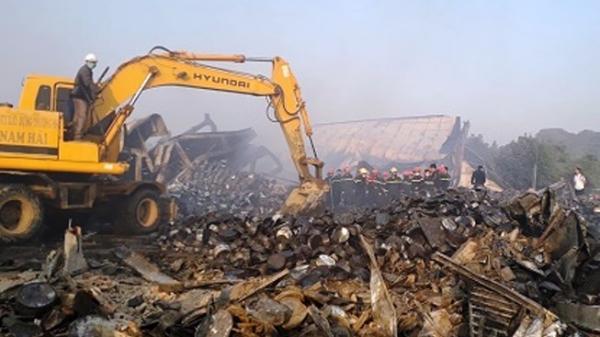 Thanh Hóa: Tiếp tục tìm kiếm phần còn lại của thi thể nữ công nhân trong vụ cháy nhà máy Tràng An 3