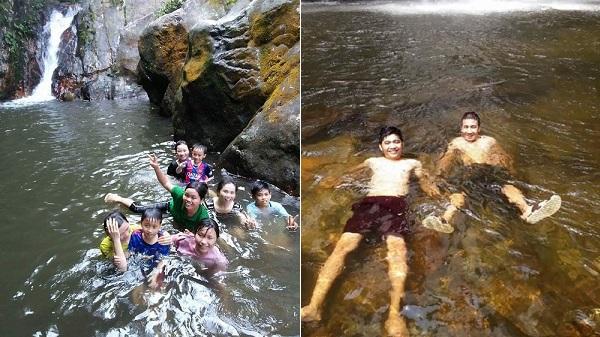 Thanh Hóa: Người dân miền núi đổ về khe suối, dầm mình trong thác nước để tránh nóng