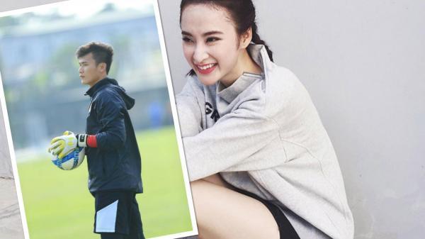 Angela Phương Trinh công khai tỏ tình với Bùi Tiến Dũng: Đến người đẹp showbiz cũng mê chàng thủ môn điển trai xứ Thanh
