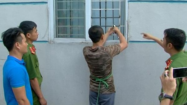 Thực nghiệm hiện trường vụ cắt cửa sổ đột nhập trộm cắp tài sản