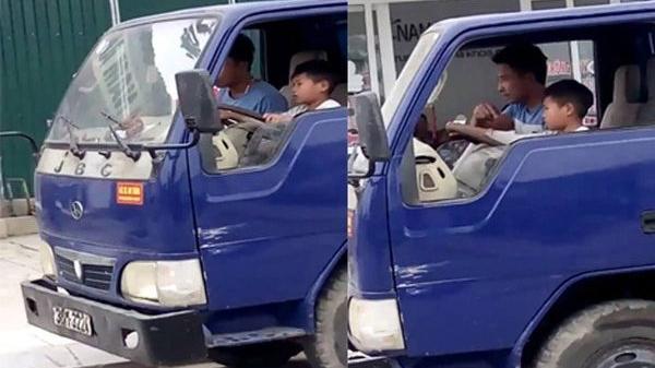 Ủy ban ATGT Quốc gia yêu cầu xác minh bé trai 10 tuổi điều khiển xe tải ở Thanh Hóa