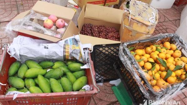 Thanh Hóa: Hơn 2 tấn hoa quả không rõ nguồn gốc bị bắt giữ khi trên đường về Nghệ An tiêu thụ