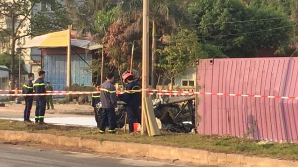 Thanh Hóa: Xe rơ mooc lật nhào bốc cháy lớn, tài xế nguy kịch