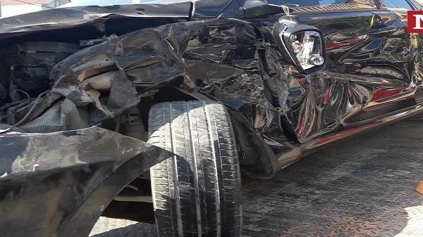 Thanh Hóa: T.ai n.ạn giao thông liên hoàn giữa 4 ô tô trên quốc lộ gây ác tắc giao thông
