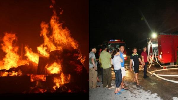 Thanh Hóa: Cháy lớn ở công ty thủ công mỹ nghệ, hàng trăm công nhân hoảng loạn chạy thoát thân
