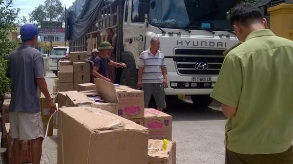 Thanh Hóa: Phát hiện xe tải chở nhiều hàng hóa không nguồn gốc