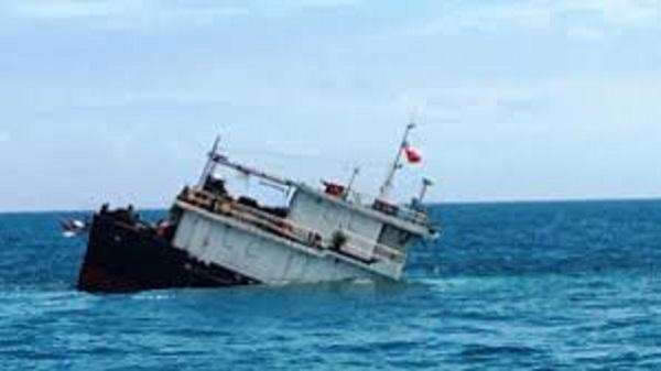 Tàu vận tải gần 5.000 tấn bị chìm khi vừa rời cảng ở Thanh Hóa