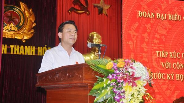 Thanh Hóa: Đoàn ĐBQH tỉnh tiếp xúc cử tri tại Công an tỉnh