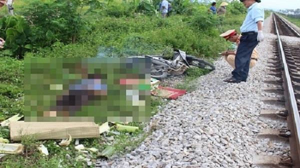 Băng qua đường sắt, người đàn ông ở Thanh Hóa bị tàu tông tử vong