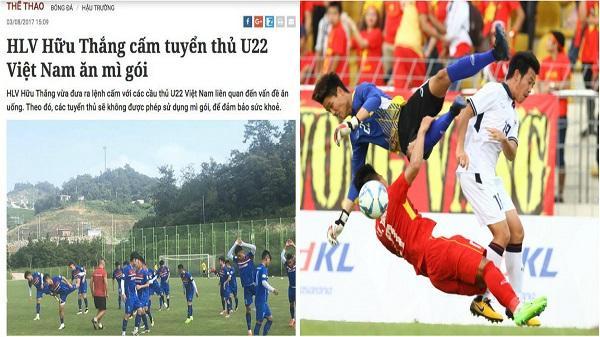 Bóng đá Việt ở SEA Games 29: Thành hay bại là đều tại... mỳ tôm