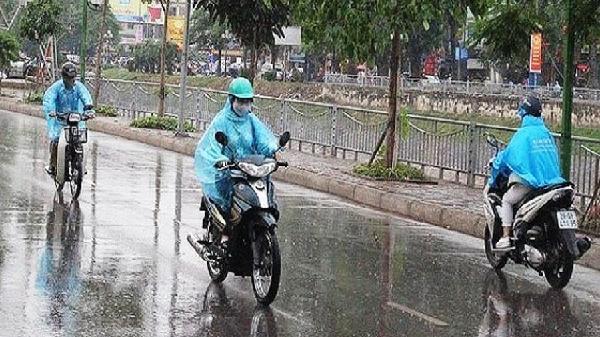 Các khu vực trên cả nước có mưa và dông