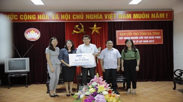 Formosa và FLC ủng hộ 5 tỷ đồng cho người dân vùng bão Hà Tĩnh