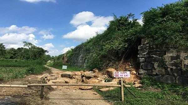 Thanh Hóa: Tường thành của di sản văn hóa thế giới Thành Nhà Hồ bị sạt lở