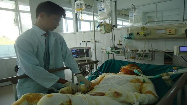 Thanh Hóa: Bị bỏng nặng, người phụ nữ nghèo nguy kịch tính mạng