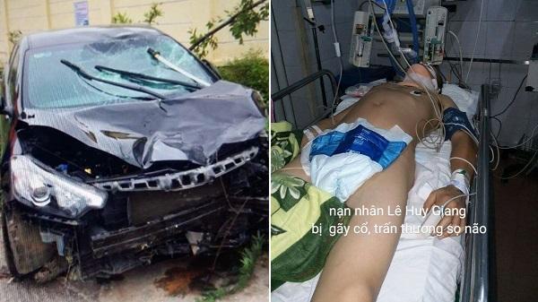 Thanh Hóa: Tai nạn nghiêm trọng, 2 thanh niên chấn thương nặng