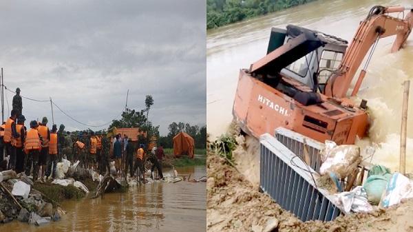 Thanh Hóa: Người 'chỉ huy' đẩy máy múc xuống dòng nước xoáy cứu đê