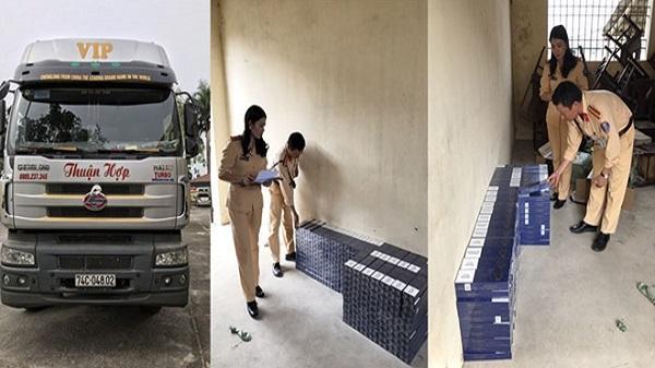 Thanh Hóa: Dùng ô tô tải vận chuyển thuốc lá lậu đi tiêu thụ