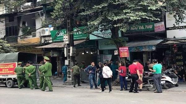 Cháy nhà trên phố Hàng Giấy, hai người Thanh Hóa tử vong