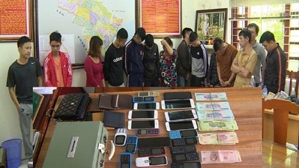 Thanh Hóa: Đột kích triệt xóa sới bạc bắt giữ 14 đối tượng
