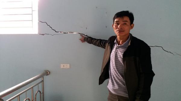 Thanh Hóa: Hàng trăm ngôi nhà bị lún nứt do nổ mìn thi công dự án