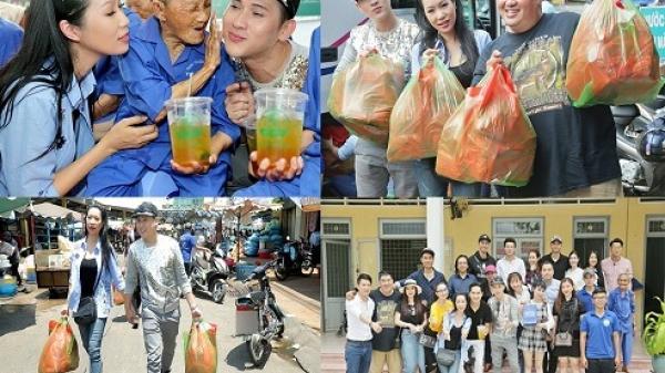 Á hậu Trịnh Kim Chi cùng dàn sao về Tiền Giang làm từ thiện