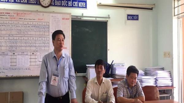 Bình Thuận: Cảnh giác dùng ống kính tê lê chụp đề thi từ tầng cao