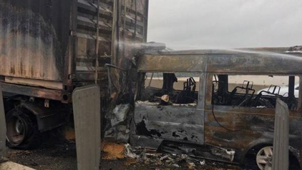 Đồng Nai: Xác định nguyên nhân ban đầu vụ ô tô tông container bùng cháy khiến 2 người t.ử vong