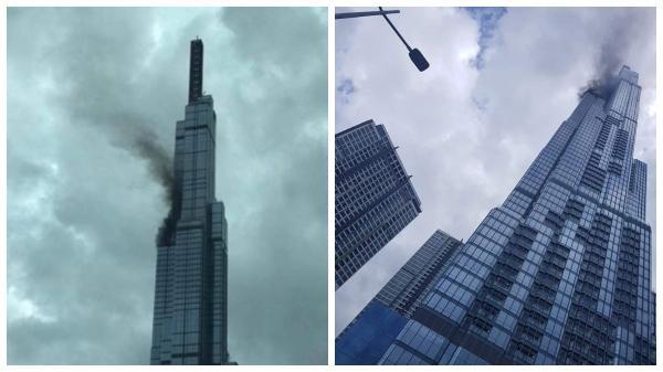 HOT: Toà nhà cao nhất Việt Nam xảy ra cháy, khói đen nghi ngút