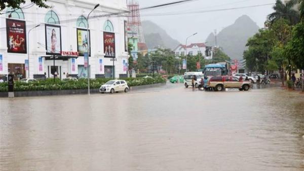 Ảnh hưởng áp thấp nhiệt đới, Yên Bái có mưa dông diện rộng