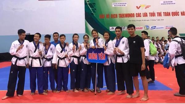 Hưng Yên giành 13 huy chương tại giải Taekwondo các lứa tuổi trẻ toàn quốc 2018