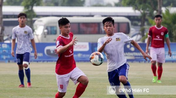 CLB Phố Hiến hoà CLB Huế 0 - 0 tại vòng 14 giải hạng Nhất quốc gia 2019