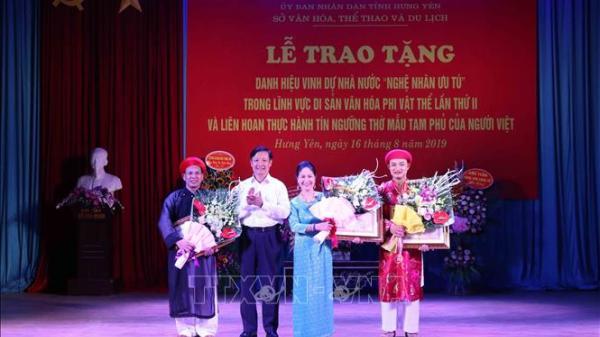 Hưng Yên có thêm bốn 'nghệ nhân ưu tú'