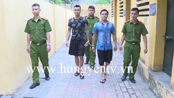 Bắt 2 đối tượng thực hiện trót lọt 12 vụ trộm cắp xe máy ở Kim Động, Hưng Yên