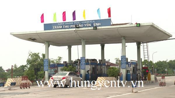Miễn phí cho một số chủ phương tiện ở Hưng Yên qua trạm thu phí Yên Lệnh