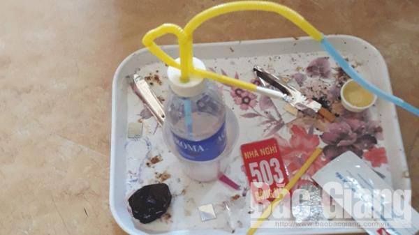 Bắc Giang: Phát hiện 7 thanh niên sử dụng m.a tú.y trong nhà nghỉ