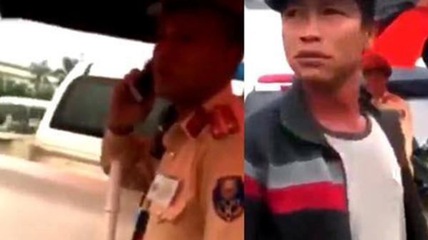 Công an Hưng Yên xác minh clip dân bị kẻ lạ h.ành h.ung trước mặt CSGT