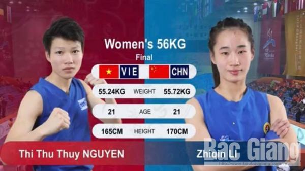 Nữ võ sĩ Bắc Giang giành Huy chương Bạc Giải Vô địch Wushu thế giới