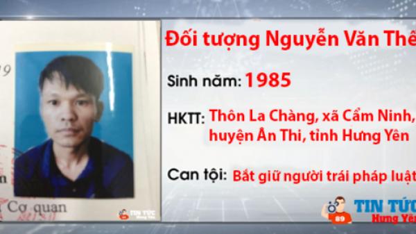 Thông báo tr uy n ã đối tượng tại Ân Thi, Hưng Yên
