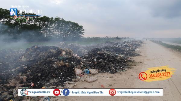 Yên Mỹ (Hưng Yên): Dân kêu trời vì ô nhiễm do đốt rác thải trái phép