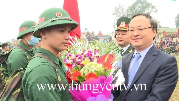 Hôm nay 1.800 thanh niên Hưng Yên lên đường nhập ngũ