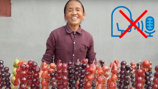 """Bắc Giang: Dù làm thành công món kẹo tuổi thơ nhưng clip mới của Bà Tân Vlog lại khiến người xem khó chịu vì một nhân vật """"lắm mồm"""""""