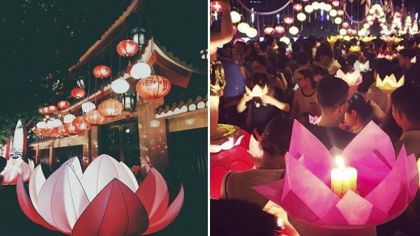 """Hoành tráng """"LỄ HỘI THẢ ĐÈN HOA ĐĂNG"""" lớn nhất Sài Gòn mừng Đại lễ Phật Đản"""