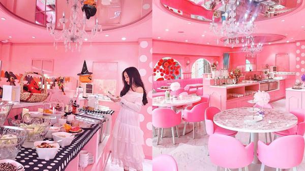 Tiệm trà màu hồng 'mọc' giữa Sài Gòn khiến team bánh bèo 'điên cuồng' tìm đến check in