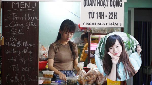 Cô chủ xinh đẹp tốt nghiệp cử nhân nhưng ở nhà bán... ốc lắc ở Sài Gòn