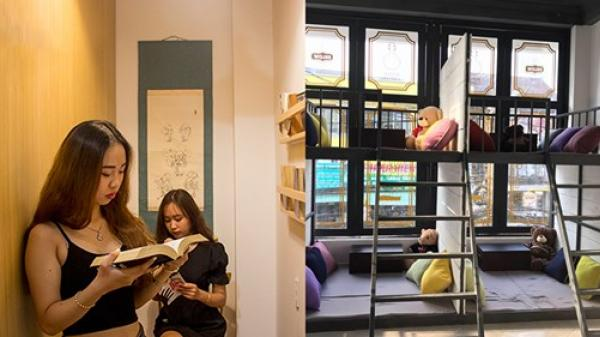 Xuất hiện quán cà phê có giường nghỉ, rèm che ở Sài Gòn, các bạn trẻ háo hức đến xem và trải nghiệm
