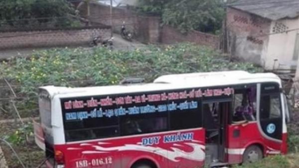 Phú Thọ: Xe khách lao xuống đê, hành khách hoảng loạn