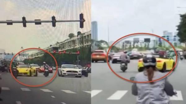 2 clip tài xế siêu xe Lamborghini đánh lái cực đỉnh tránh va c hạm tổ lái ở TP.HCM
