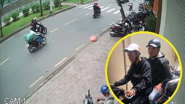 Băng cướp giật túi xách, kéo lê cô gái trên đường Sài Gòn