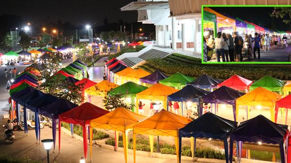 Chợ đêm làng Đại học 'tái xuất' với phiên bản đầy sắc màu, đẹp lung linh giá cả lại 'rẻ bèo'
