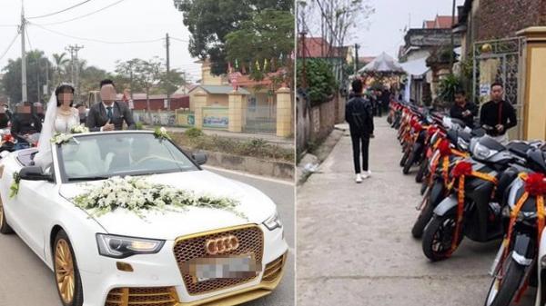 Dân mạng trầm trồ, đua nhau bình luận về dàn xe đón dâu cực hoành tráng ở Phú Thọ